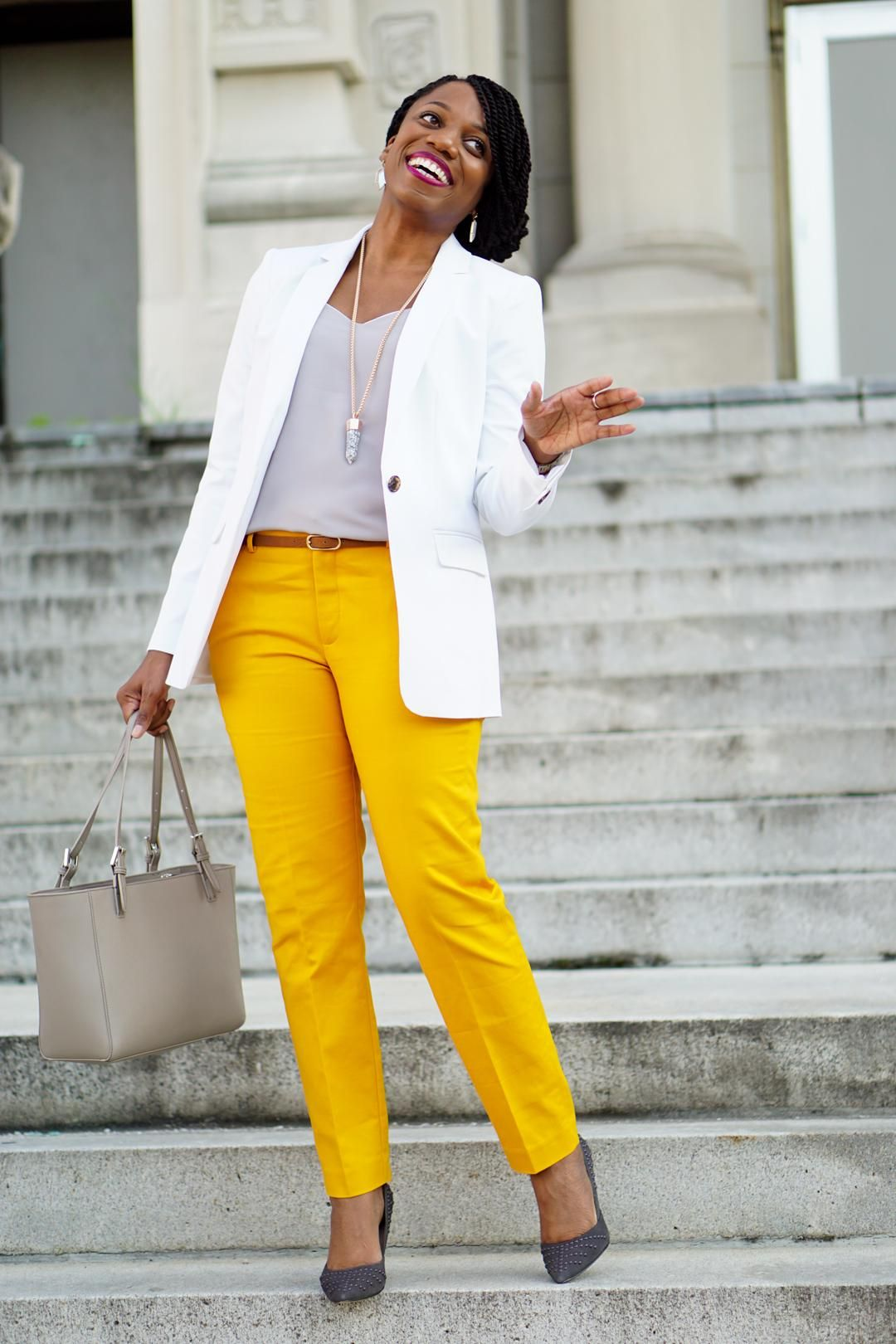 how to wear vibrant mustard pants  yellow pants outfit