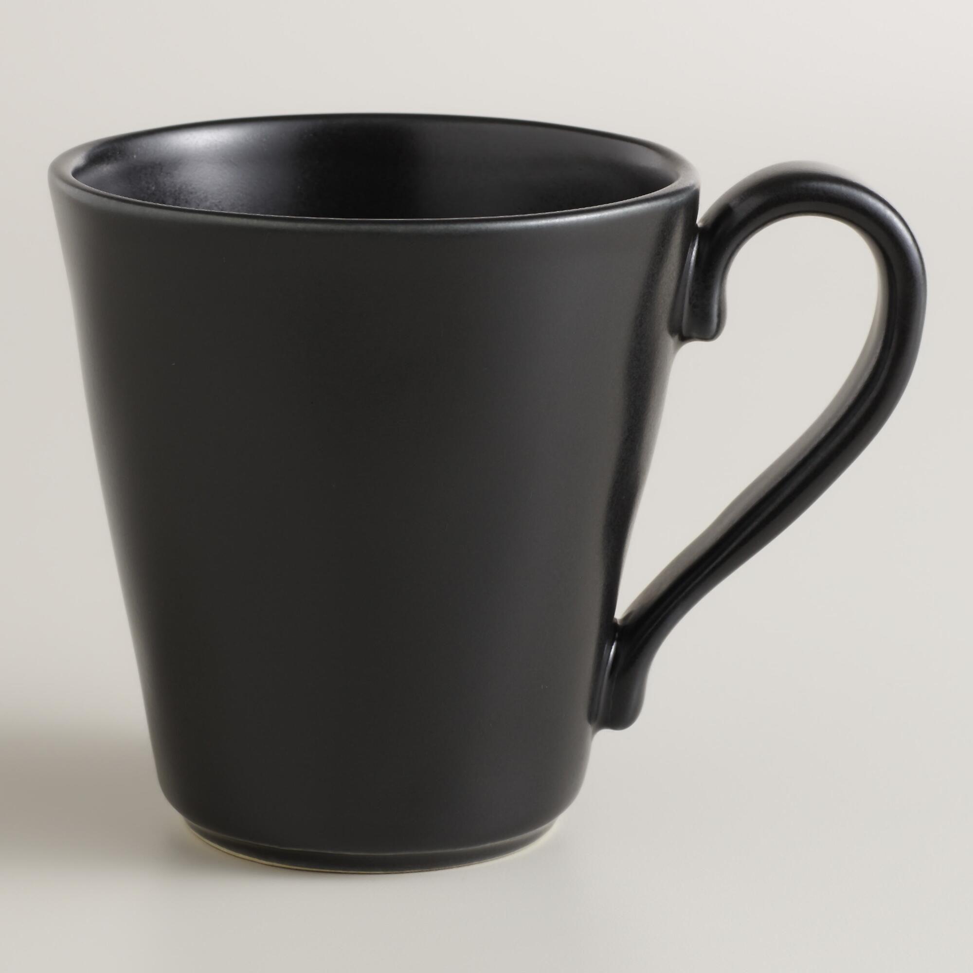 Black Organic Mugs, Set of 6   World Market   Mugs!!   Pinterest