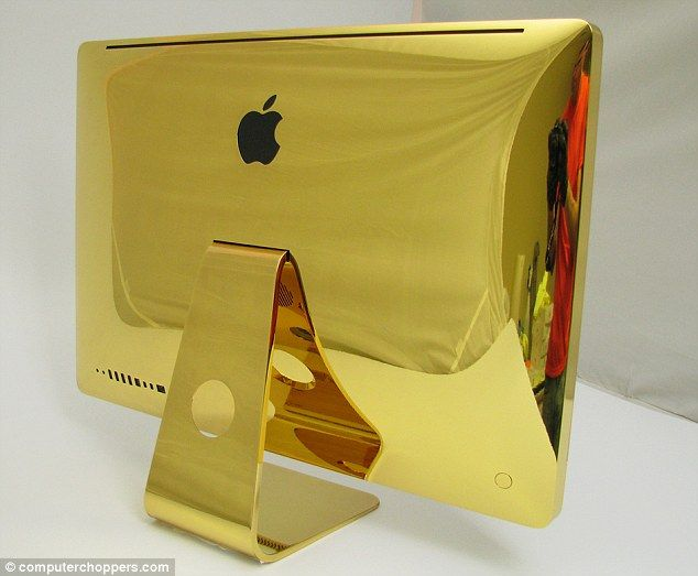 Gold dipped: Computer Choppers personalizes high-tech gadgets and offers to cover your favorite Apple…