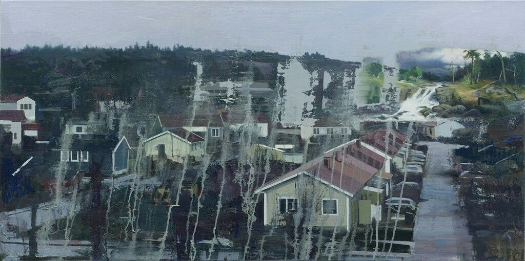 Tommy Hilding (Swedish, b. 1954, Skagersvik, Sweden) - Rekonstruktion/ Reconstruction, 2015  Paintings: Oil on Linen