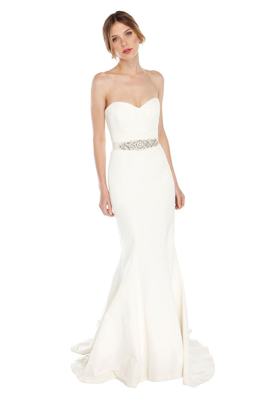 Trumpet Silk Faille Bridal Gown   Women\'s Designer Clothes   Nicole ...