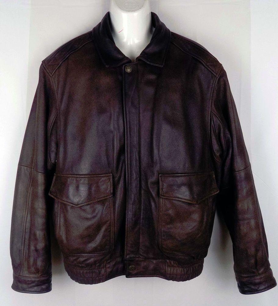 Wilsons Leather Mens Vintage Bomber Jacket Brown Thinsulate Lining L Bomber Jacket Vintage Jackets Mens Jackets [ 1000 x 911 Pixel ]