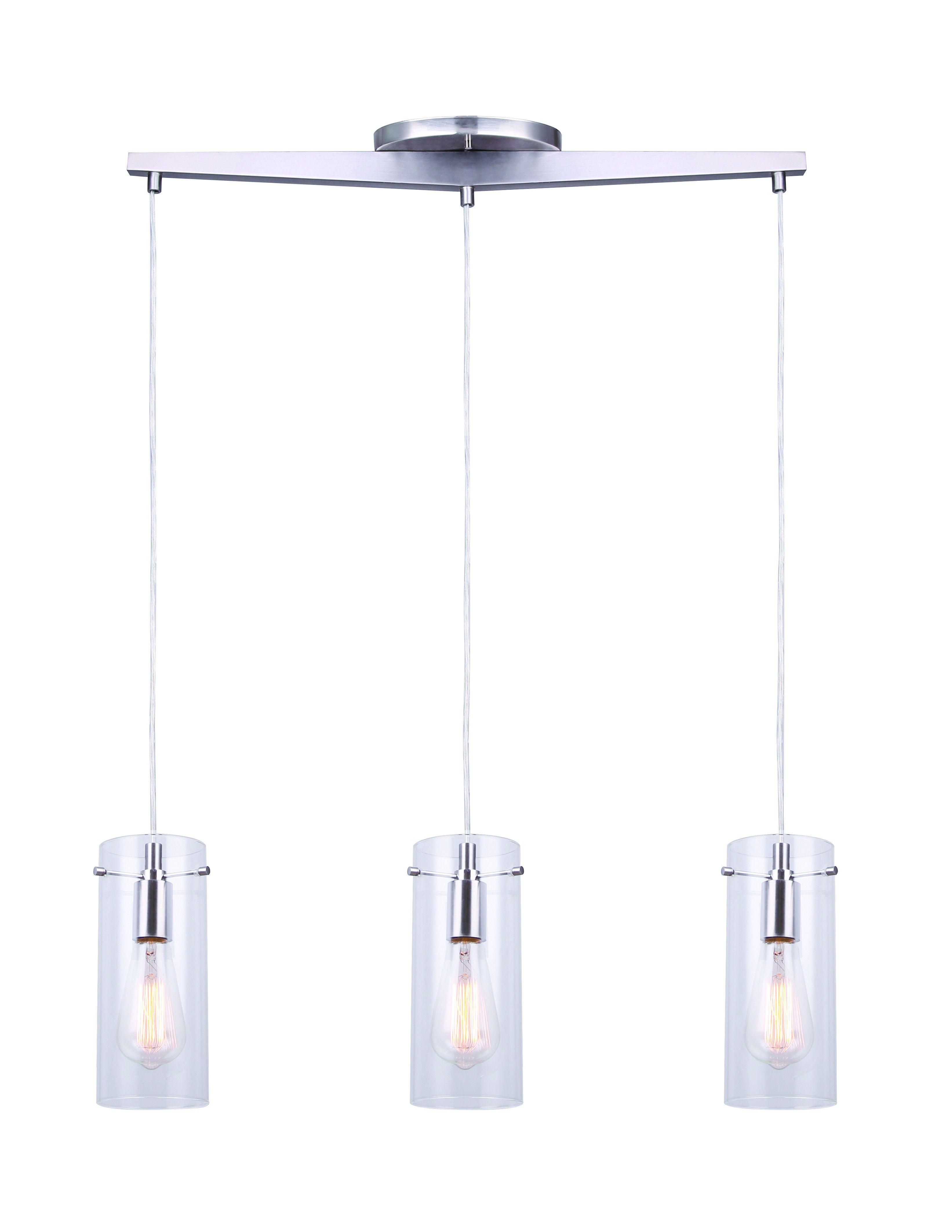 Canarm Ipl759a03bn Joni 3 Light Pendant Ceiling Light Fixture Nickel Ceiling Pendant Lights Ceiling Light Fixtures Pendant Lighting