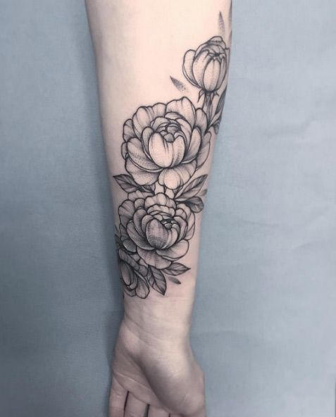 60 Gorgeous Peony Tattoos That Are More Beautiful Than Roses Tattoos Cover Tattoo Trendy Tattoos