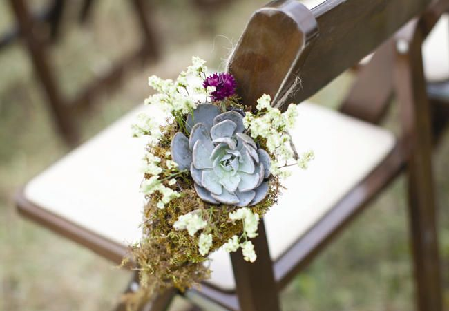 18 Pretty Ways To Decorate Your Ceremony Aisle | Photo by: Photo: Peacock Photography | TheKnot.com