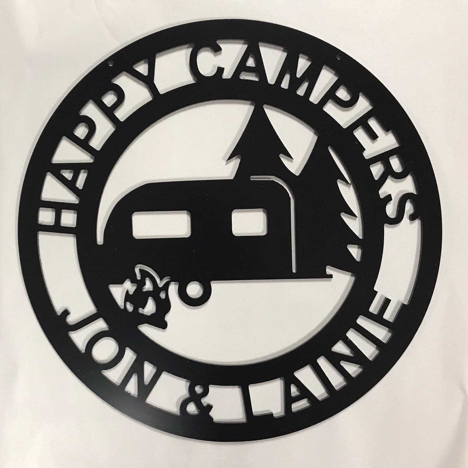 Happy Campers Yard sign Camping Sign Camper Decor RV Decor ...