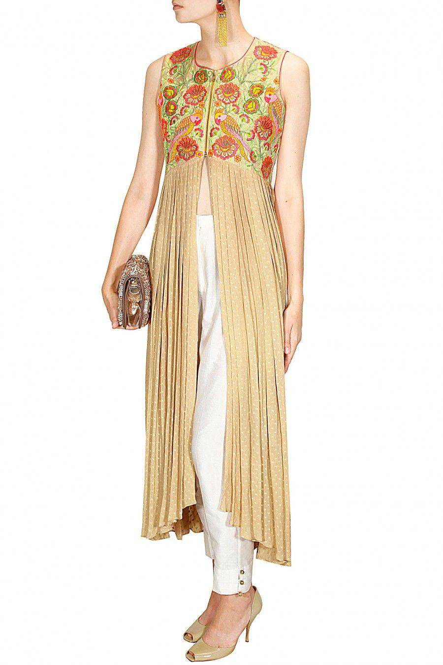 #beige #zippercapes #shopbirdy #labelsurabhiarya #fitforfestivity #styleit #flauntit