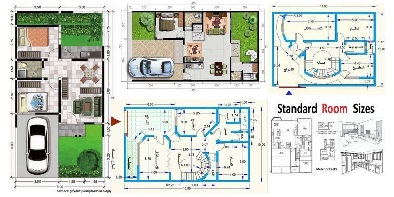 Standard Room Sizes For Plan Development Engineering Discoveries Modern House Floor Plans Home Map Design Tiny House Floor Plans