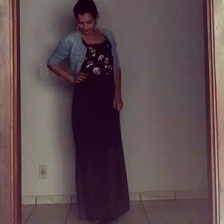 Vestido novo! #lookdodia #deontem #Marisa #dress #jeans