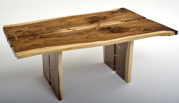 Wooden Table Designs rustic contemporary furniture, slab wood table, bedroom cabinet