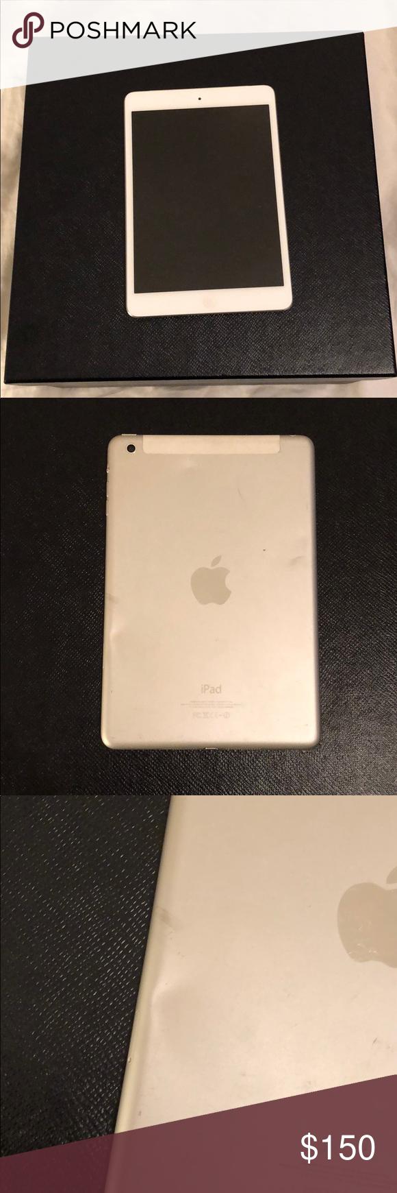 White Ipad Mini White Ipad Mini Used Small Dent On Back But I M Pretty Good Shape Otherwise Apple Other Ipad Mini Ipad Mini