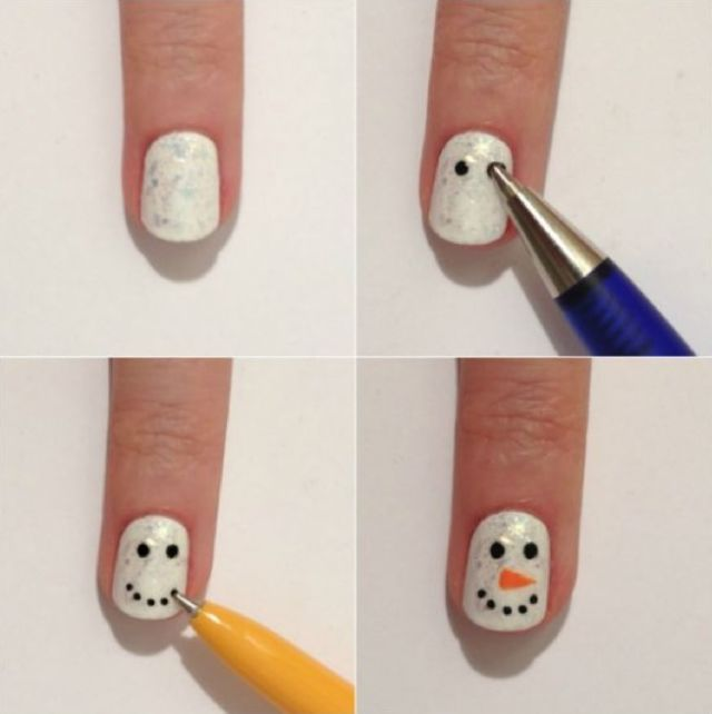Do you wanna paint a snowman nailed it pinterest christmas art do you wanna paint a snowman diy christmas nails solutioingenieria Images