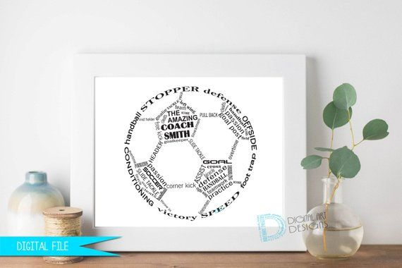 Fussball Coach Geschenk Fussball Geschenke Fussball Spieler Etsy Fussball Geschenke Trainergeschenke Geschenk Fur Fussballtrainer