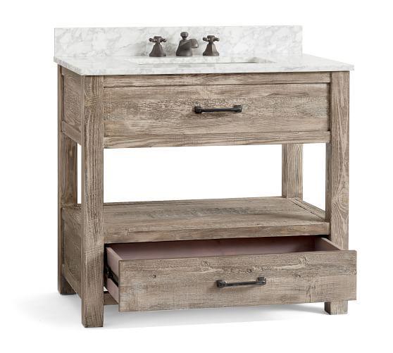Paulsen Reclaimed Wood Single Sink Vanity Ndash 36 Quot 8203 With Images Reclaimed Wood Vanity Salvaged Wood Furniture Wood Vanity