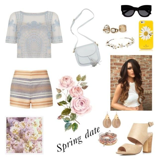 """Spring date"" by jessmarrriee on Polyvore featuring Temperley London, Solid & Striped, Dorothy Perkins, Karen Walker, Kate Spade, Cult Gaia, Alexis Bittar and Aéropostale"