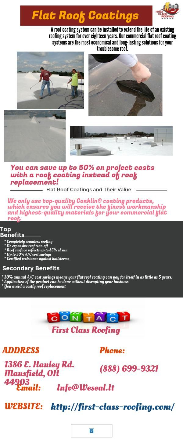 A roof coating system can be installed to extend the life ...
