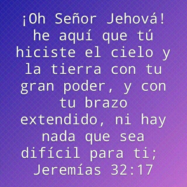 Nada hay imposible para ti mi Dios!!!