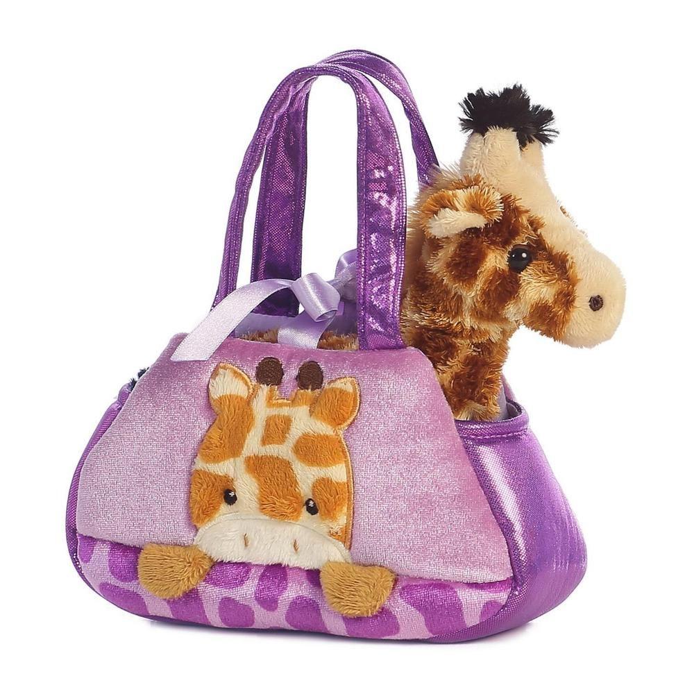 7 Aurora Plush Giraffe Pet Carrier Fancy Pals Purse Plush Stuffed Animal Toy Pet Toys Plush Stuffed Animals Pet Carrier Purse