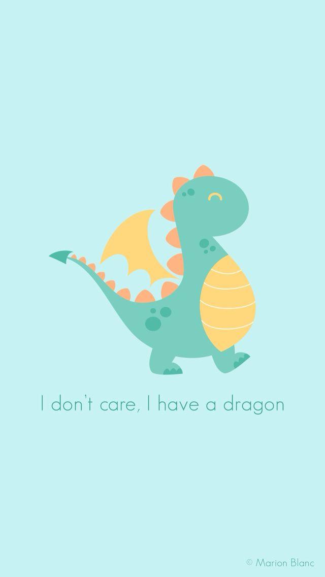 Dragon Vector Illustration C Marion Blanc Ilustraciones Fondos De Dinosaurios Fondos De Pantalla De Iphone