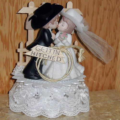 Western #Wedding Cake Topper... @David Phillipo How adorable is this ...