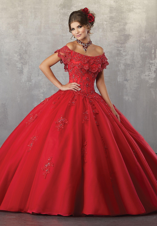 Abiti Da Cerimonia Quinceanera.Off Shoulder Lace Quinceanera Dress By Mori Lee Vizcaya 89168