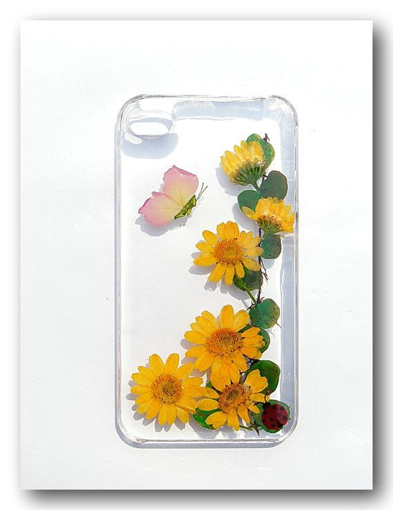 Handmade iPhone 4/4s case Resin with Real  Flower by Annysworkshop, $18.00