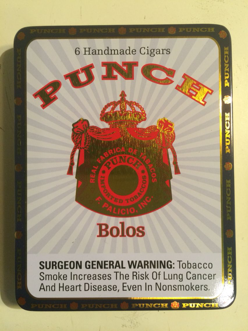 Punch bolos hand made small cigars non-cuban; outside