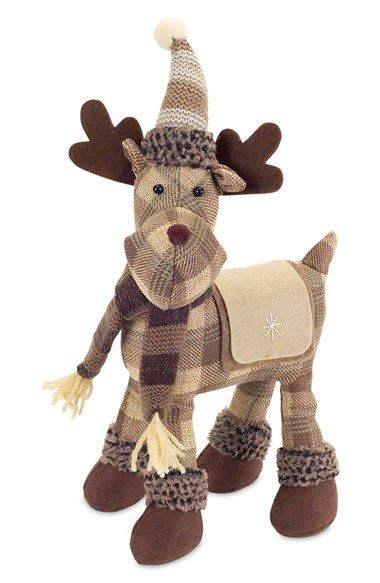 MELROSE GIFTS Plaid Moose Decoration available at #Nordstrom - moose christmas decorations