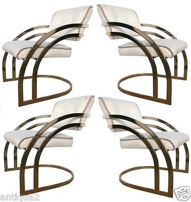 Delicieux Amazing Milo Baughman Brass Cantilever Dining Chairs. Exactly Like Song Of  Styleu0027s Chairs!