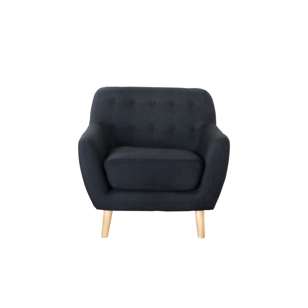 Buy Luxo Lovenholm Single Seater Scandinavian Sofa Black