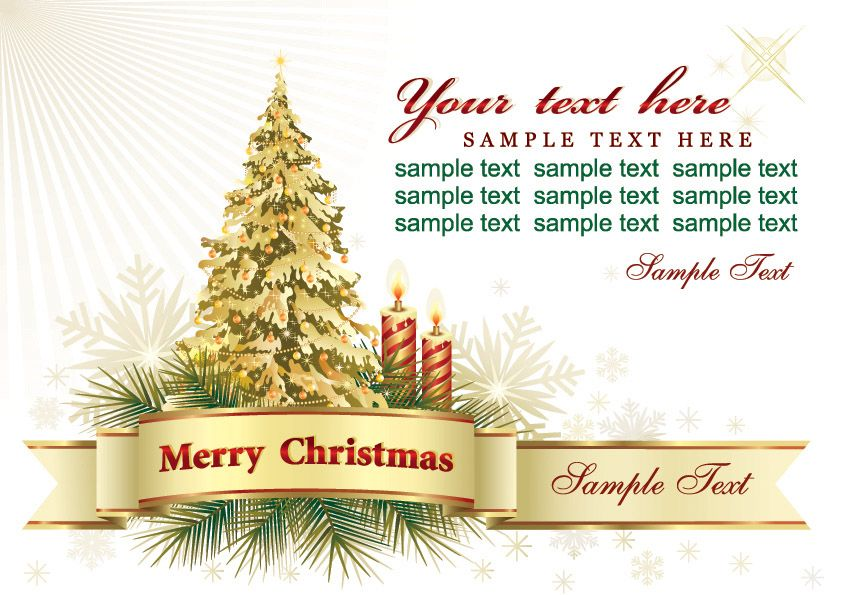 Merry Christmas to all the Sample Text Here and may you have a - christmas greetings sample