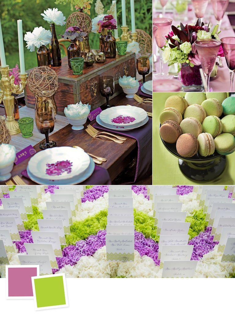 10 New Color Combos You\'ll Love   Pinterest   Green wedding, Wedding ...