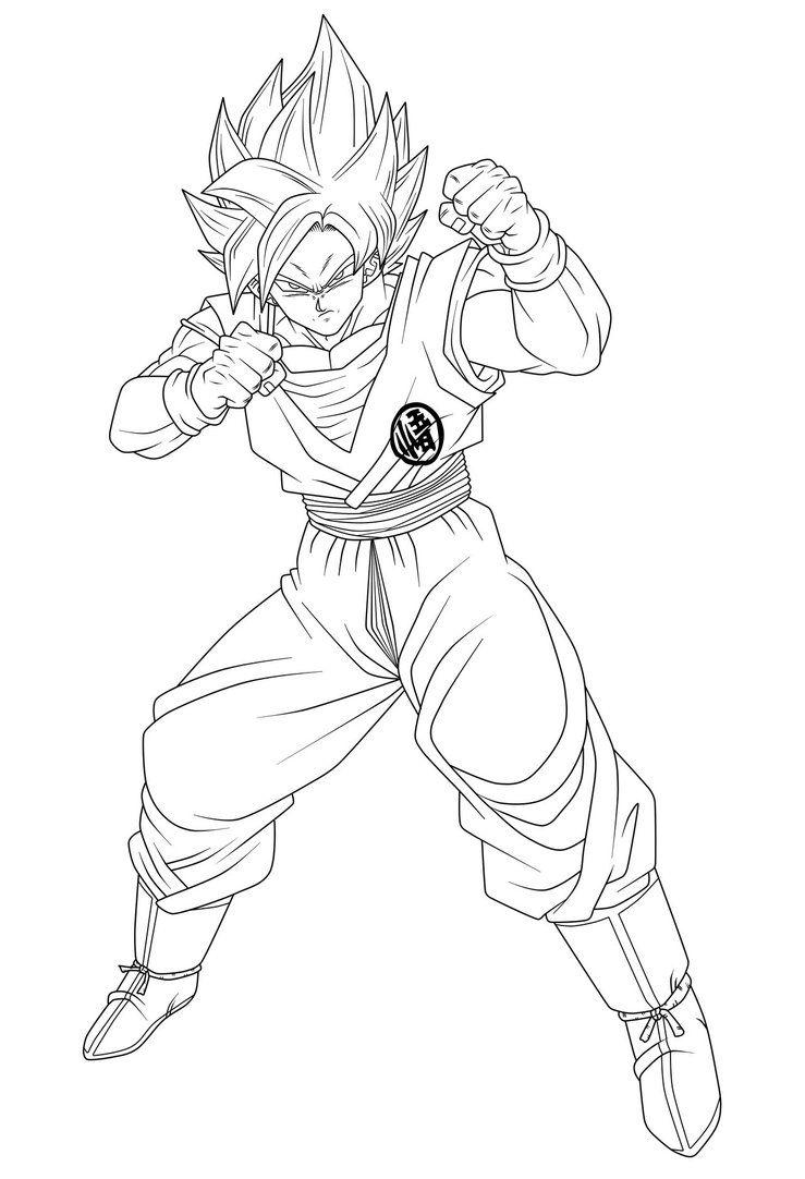 Goku Ssgss Serio Lineart By Hiroshiianabamodder Goku Dragon Ball Z Dragon Ball Super