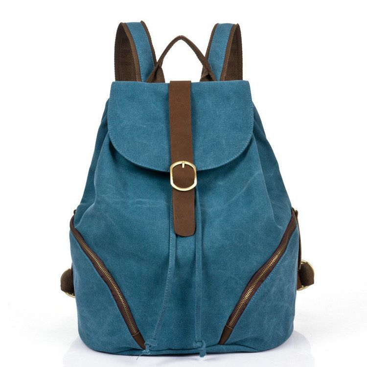 Mochila de lona nueva moda bolsa de viaje de piel vintage [AS90019] - €48.87 : bzbolsos.com, comprar bolsos online