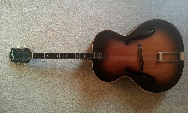 1943 F Hole archtop Epiphone Olympic Tenor Guitar #Epiphone