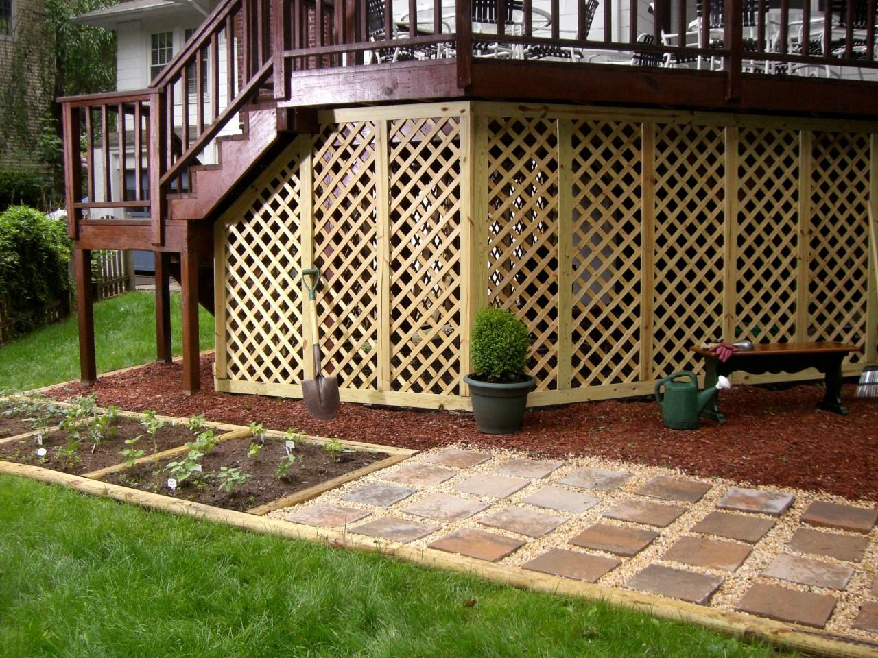 Adding Lattice to the Bottom of a Deck | Hgtv, Outdoor spaces and ...