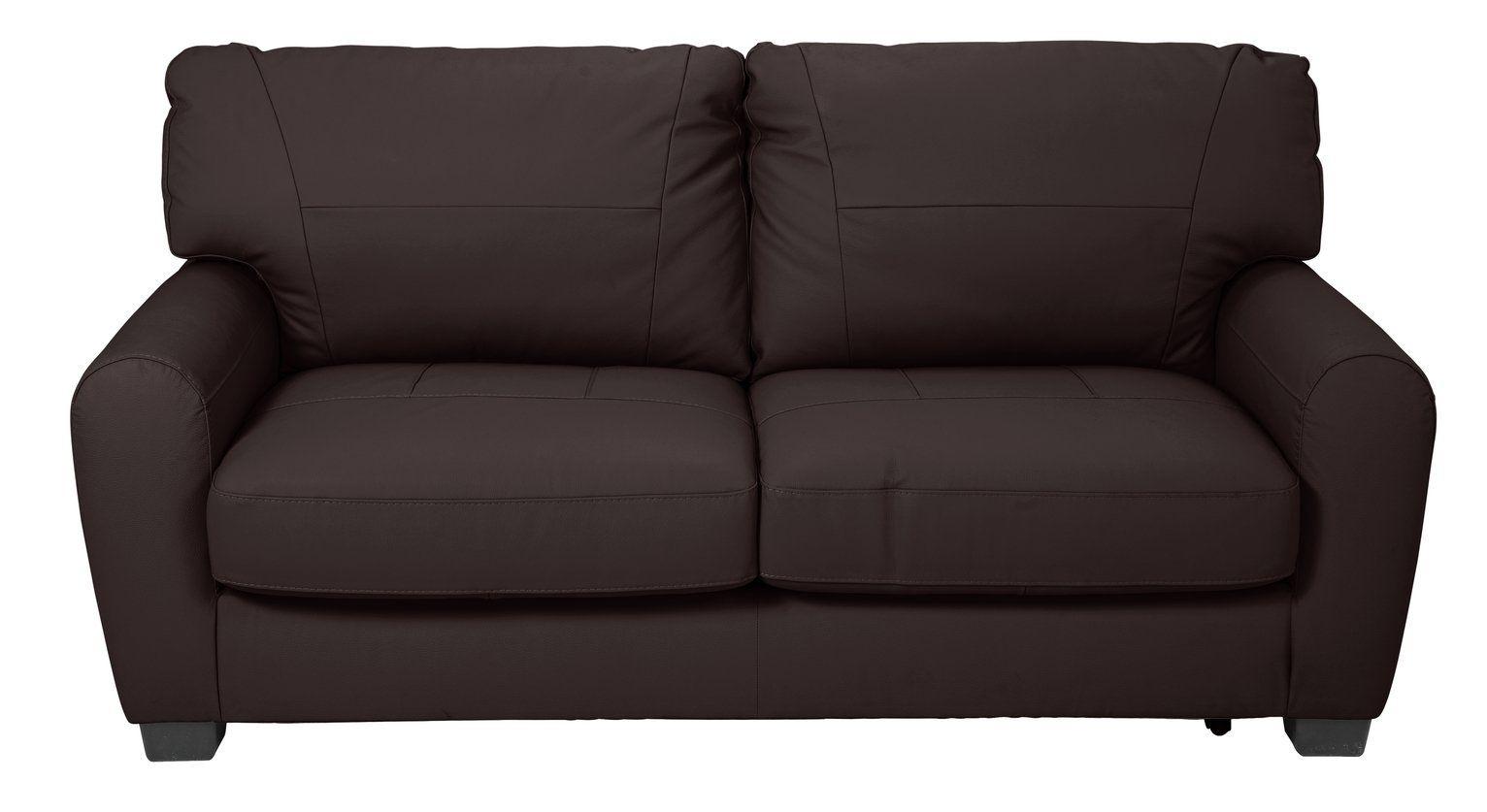 Argos Home Stefano 2 Seater Faux Leather Sofa Bed Chocolate In 2020 Leather Sofa Bed Faux Leather Sofa Leather Sofa