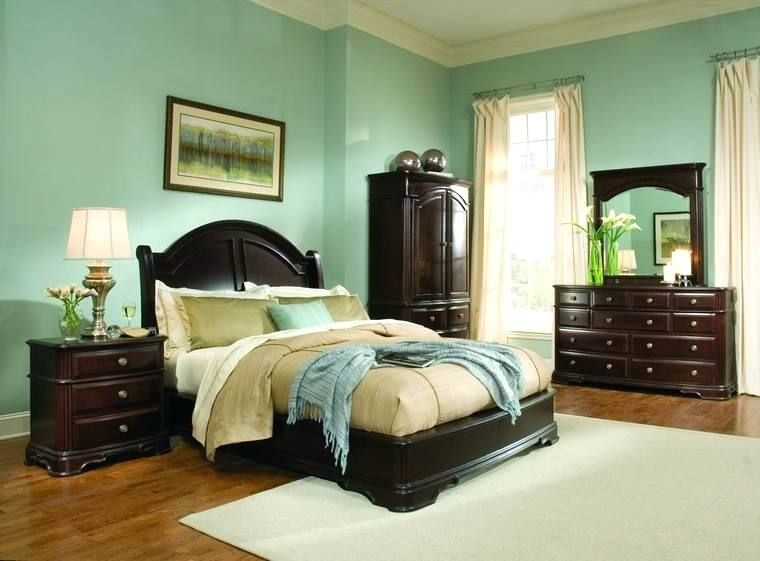 Wandfarbe Fur Braune Mobel Dekoration Ideen Dunkelbraune Mobel Schlafzimmermobel Holz Schlafzimmer