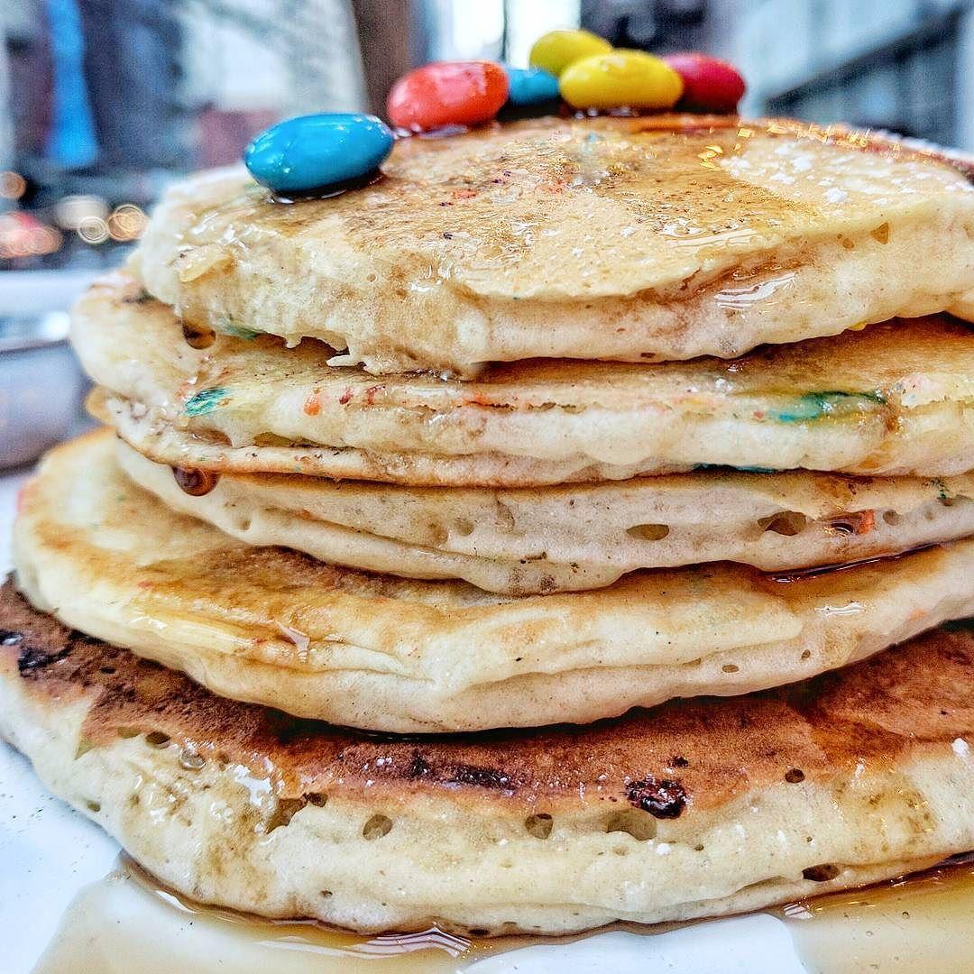 Let's Get Stacked @thehornyramnyc #pancakes #pancake