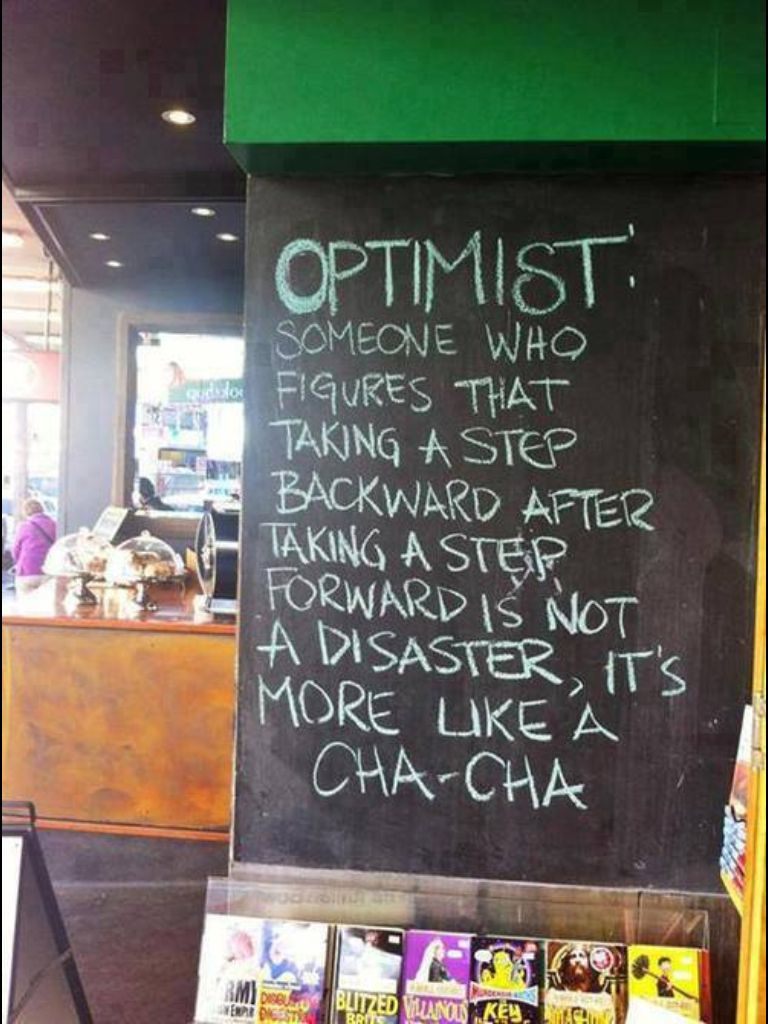 How to define an optimist #Quote