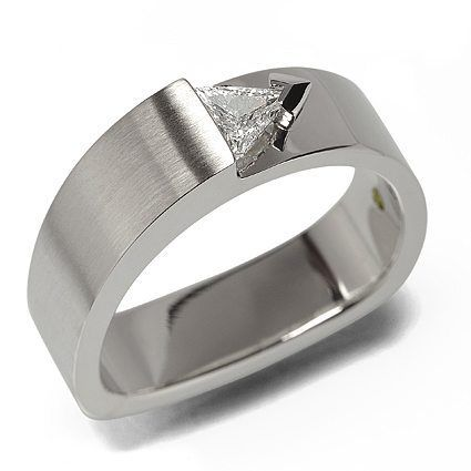 Skylight Trillion Cut Diamond White Gold Ring