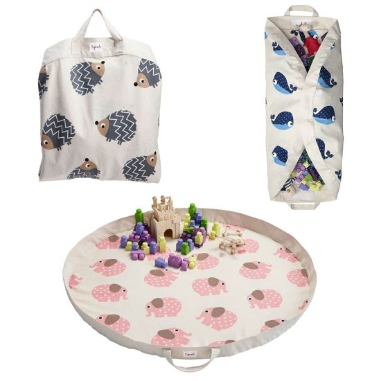 Tappeto gioco neonato e borsa 3 Sprouts due divertimenti