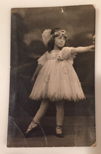 Pair-Of-1920s-Photos-Of-Young-Girl-In-Ballerina-Outfit-As-Is