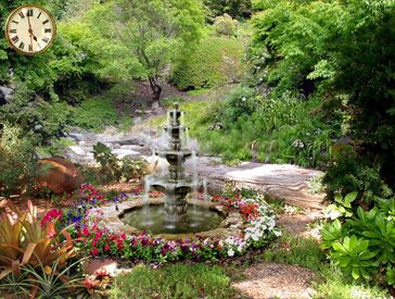 Beautiful fountains free 3d beautiful fountains in the - Garden screensavers free ...