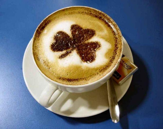 """""""clover"""" cappuccino"""