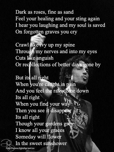 Chris Cornell - Sunshower [*] Lyrics | SongMeanings