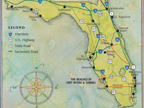 sanibel beach florida map