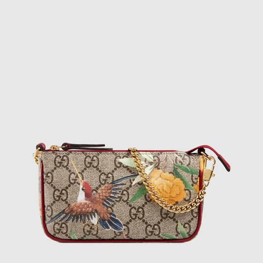 77dc84f8ced4 Gucci Women - Gucci Tian GG Supreme mini bag - 427014K0L2G8691 ...