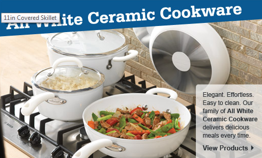 New All White Ceramic Cookware by Pampered Chef. Click