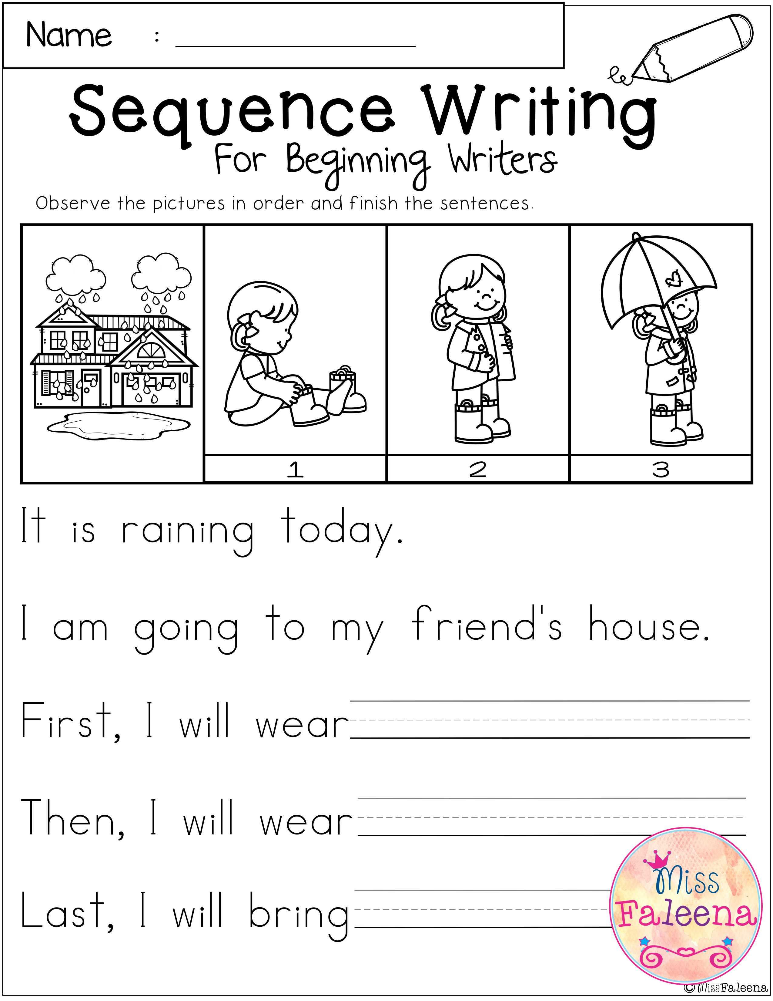 March Sequence Writing For Beginning Writers In 2020 Sequence Writing Kindergarten Writing First Grade Writing [ 3300 x 2550 Pixel ]